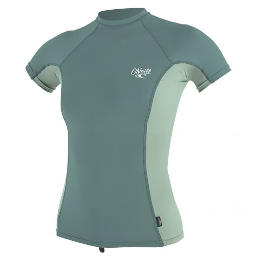 O'Neill---UV-werend-T-shirt-voor-dames---multicolor-(mint,-euca)