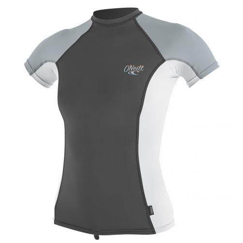 O'Neill---UV-werend-T-shirt-voor-dames---multicolor-(wit,-grijs)