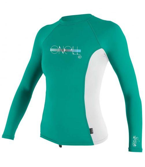 O'Neill---UV-shirt-voor-meisjes---Longsleeve---Premium-Rash---Baltisch-groen
