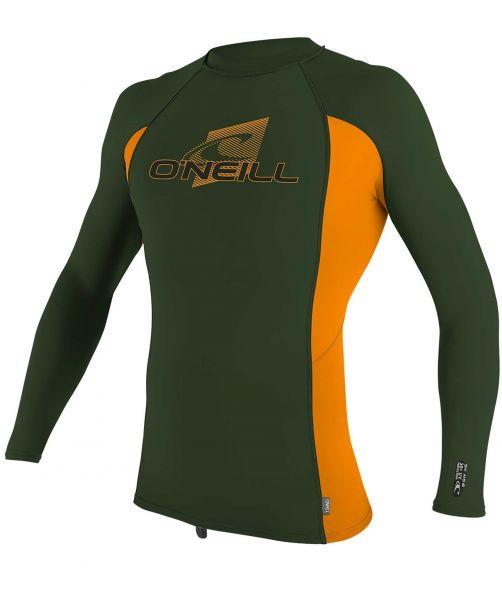 O'Neill---UV-shirt-voor-kinderen---Longsleeve---Premium-Rash---Olijfgroen