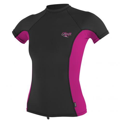 O'Neill---UV-werend-T-shirt-voor-dames---multicolor-(roze,-zwart)