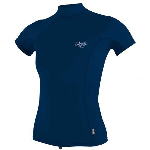 O'Neill---UV-shirt-voor-dames-met-hoge-hals---Premium-Rash---Donkerblauw