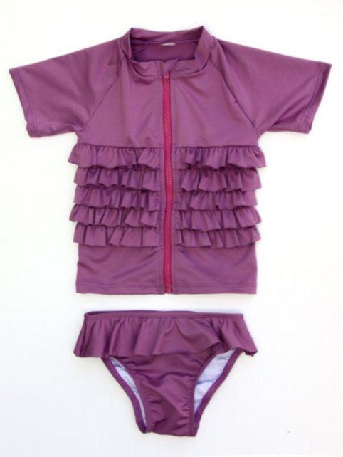 SwimZip---kids-zwempakje-meisjes-korte-mouwen---Ruffle-Me-Pretty