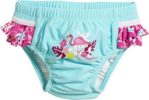 Playshoes---UV-zwemluier-voor-meisjes---Wasbaar---Flamingo---Aqua/roze