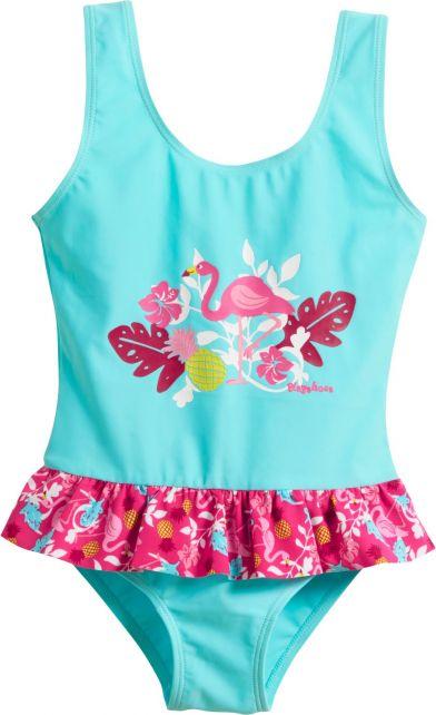 Playshoes---UV-badpak-voor-meisjes---Flamingo---Aquablauw-/-roze