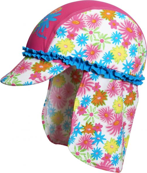 Playshoes---UV-zonnepetje-voor-kinderen---Roze-ruches