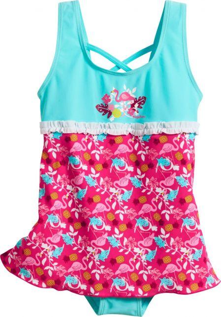 Playshoes---UV-badpak-voor-meisjes---Rokje---Flamingo---Aqua-/-blauw