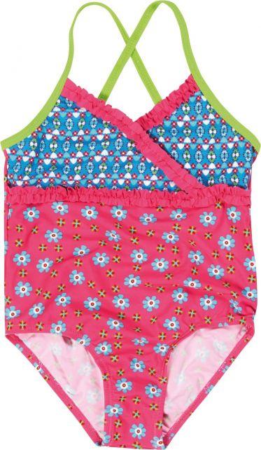 Playshoes---UV-badpak-voor-meisjes---Bloemen---Roze-/-blauw-/-groen