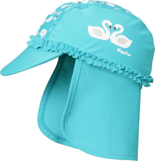 Playshoes---UV-zonnepet-voor-meisjes---lichtblauw-zwanen