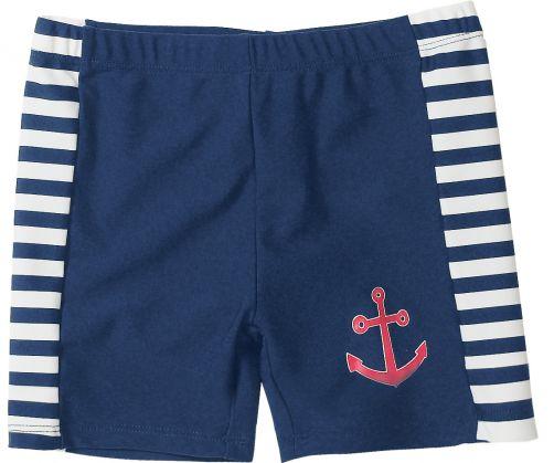 Playshoes---UV-zwemshort-dreumes/peuter/kind---blauw-wit-gestreept