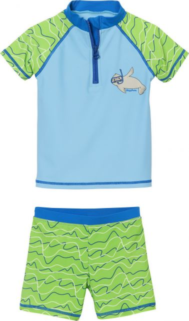 Playshoes---UV-zwemset-voor-jongens-en-meisjes---blauw-groen-zeehond