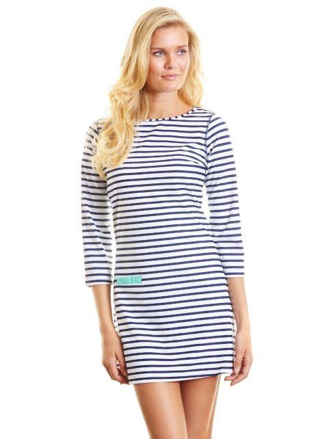 Cabana-Life---UV-jurk---Donkerblauw-strepen