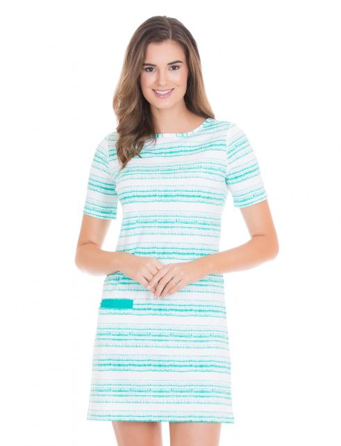 Cabana-Life---UV-jurk-voor-dames---Turquoise/Wit
