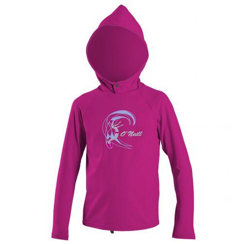 O'Neill---UV-shirt-voor-meisjes-met-lange-mouwen-&-capuchon--berry-