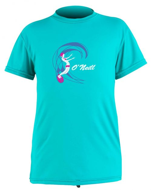 O'Neill---UV-shirt-voor-meisjes-met-korte-mouwen---O'Zone-Sun---Lichtaqua