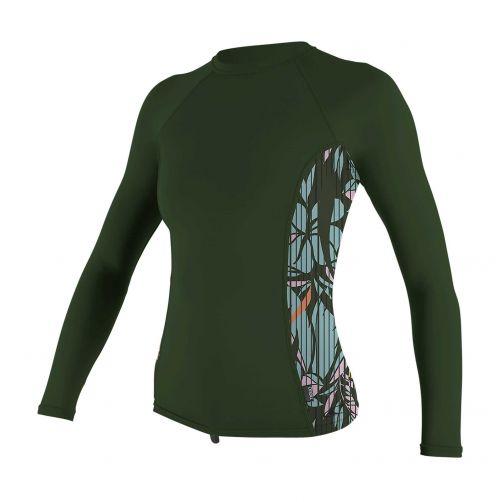 O'Neill---UV-shirt-voor-dames---Longsleeve---Rash-Guard---Olijfgroen