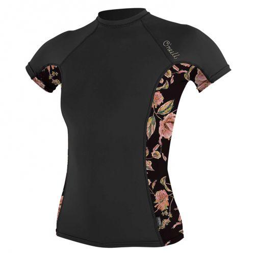 O'Neill---UV-shirt-voor-dames-met-korte-mouwen---Rash-Guard---Zwart