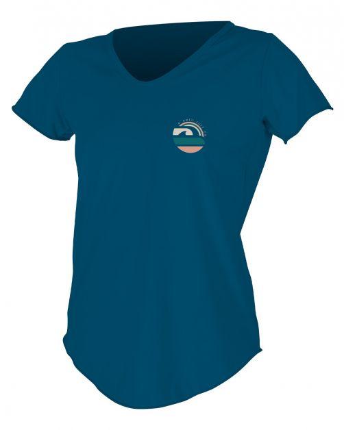 O'Neill---UV-shirt-voor-dames-met-korte-mouwen---Graphic-Sun---Marineblauw
