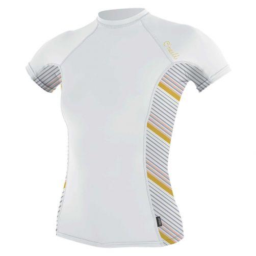 O'Neill---UV-shirt-voor-dames-met-korte-mouwen---Rash-Guard---Wit
