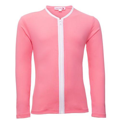 Petit-Crabe---UV-werend-vestje-lange-mouwen---Ster---Roze