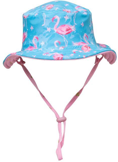 Snapper-Rock---UV-Bucket-hoed-voor-kids---Tweezijdig---Flamingo-Star---Blauw/Roze
