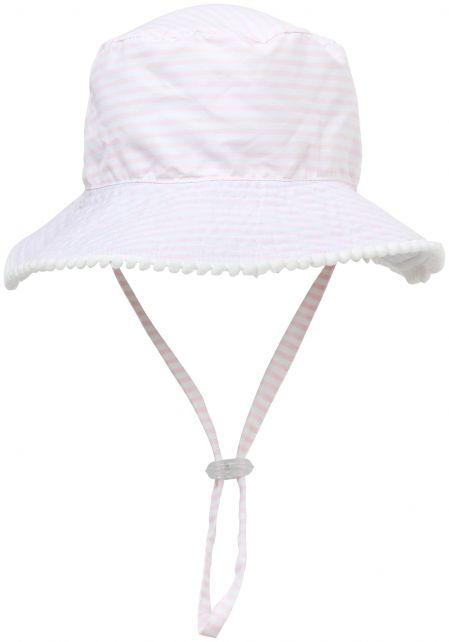 Snapper-Rock---UV-Bucket-hoed-voor-kids---Tweezijdig---Wit/Roze