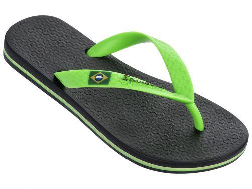 Ipanema---slippers-voor-jongens--Classic-Brasil---zwart-en-groen