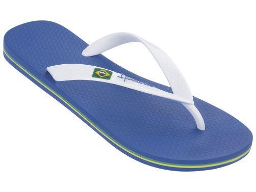 Ipanema---slippers-voor-heren--Classic-Brasil--blauw-&-wit-bandje