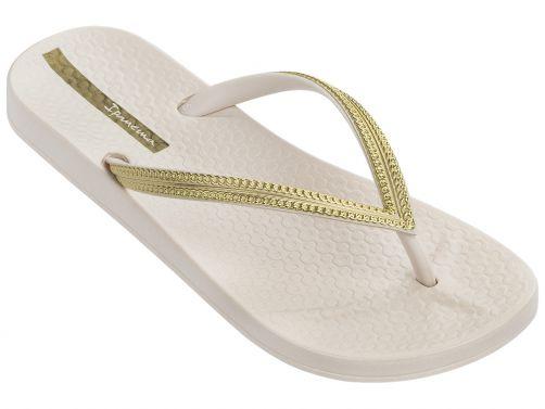 Ipanema---slippers-voor-dames---Anatomic-Mesh---wit-&-goud