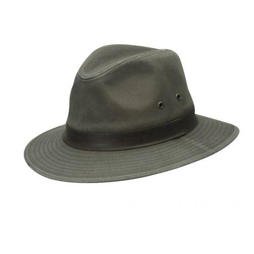 Dorfman-Pacific---UV-Fedora-hoed-voor-heren---Olijfgroen