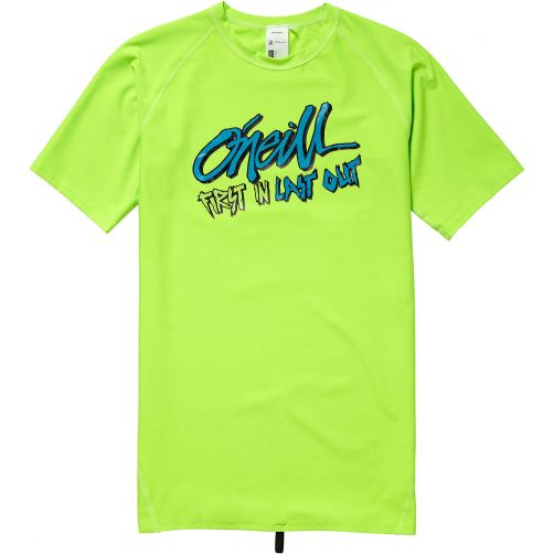 O'Neill---UV-zwemshirt-voor-jongens---First-in-Last-out---Fluor-Green