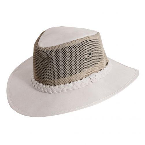 Dorfman-Pacific---UV-stijlvolle-hoed-voor-heren---Wit