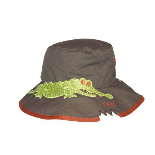 Rigon---UV-bucket-hat-voor-kinderen---Khaki-croc