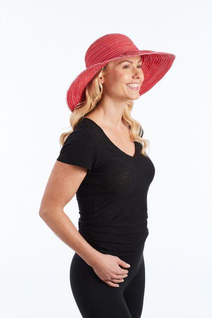 Rigon---UV-flaphoed-voor-dames---Rood