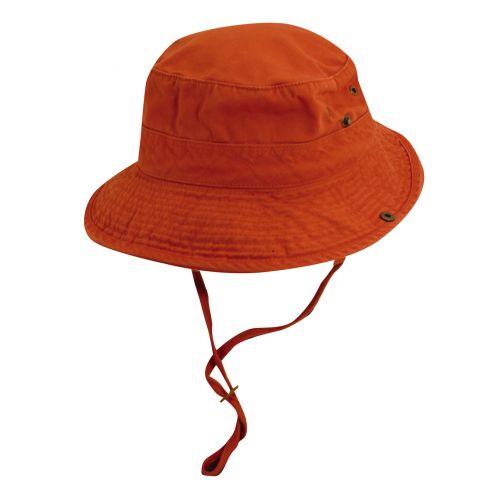 Dorfman-Pacific---UV-werende-bucket-hoed---heren---Donkerblauw/Oranje