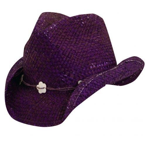 Dorfman-Pacific---Cowgirl-hoed-met-schelpen-voor-kinderen---Paars