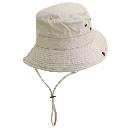 Dorfman-Pacific---UV-hoed-voor-kinderen---Gebroken-wit/Zwart
