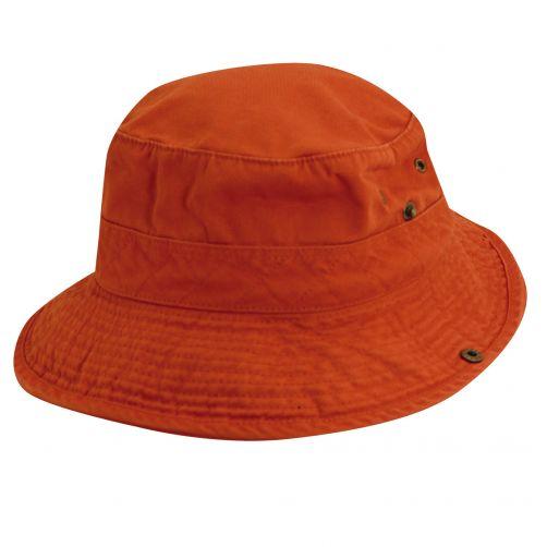 Dorfman-Pacific---UV-hoed-voor-kinderen---Oranje/Donkerblauw