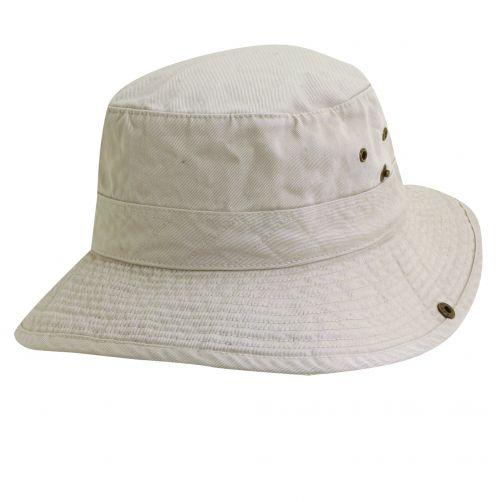 Dorfman-Pacific---UV-hoed-voor-kinderen---Gebroken-wit/Olijfgroen