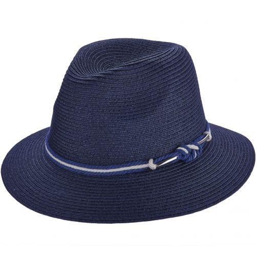 Callanan---Safari-papier-gevlochten-hoed-voor-dames---Donkerblauw
