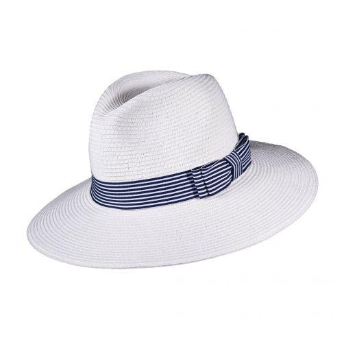 Callanan---UV-Fedora-hoed-voor-dames---Wit