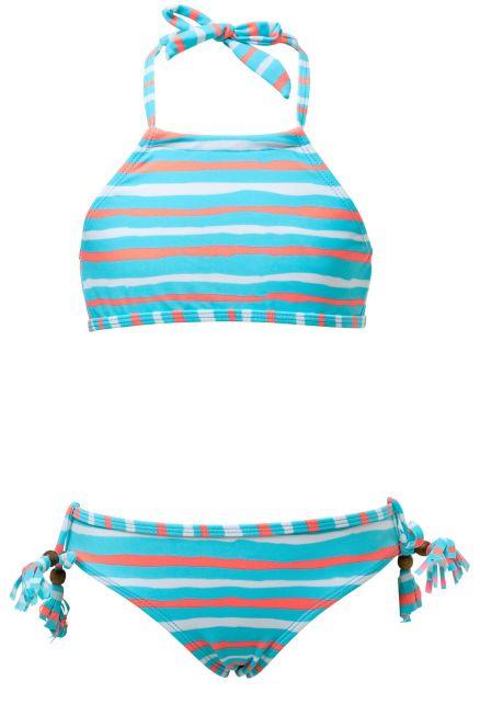 Snapper-Rock---Bikini-voor-meisjes---Orange-Crush---Blauw/Oranje