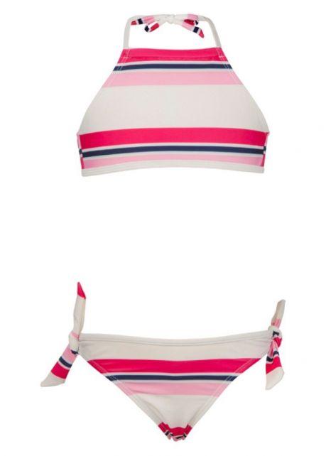 Snapper-Rock---Halter-bikini-voor-meisjes---blauw/-roze-gestreept-