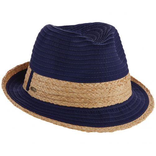 Scala---verstelbaar-Fedora-hoed-voor-dames---Donkerblauw