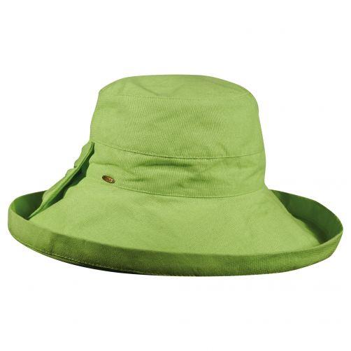 Scala---UV-katoenen-zonnehoed-voor-dames---Groen