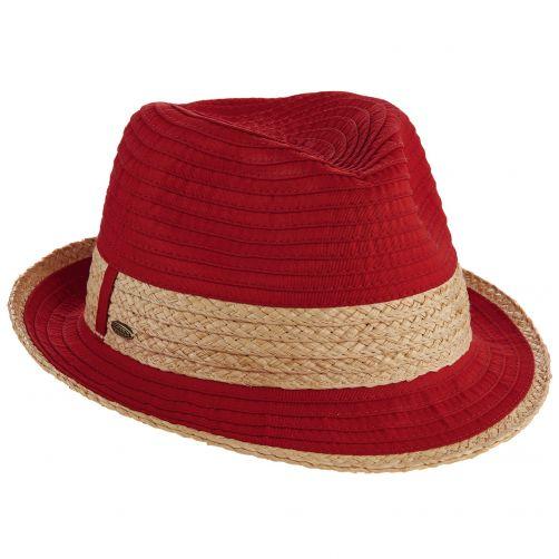 Scala---verstelbaar-Fedora-hoed-voor-dames---Rood