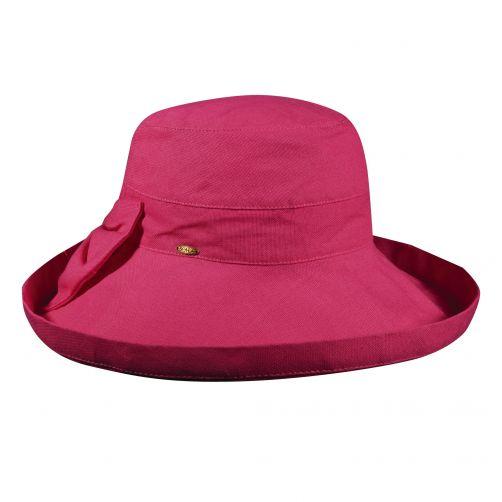 Scala---UV-katoenen-zonnehoed-voor-dames---Roze