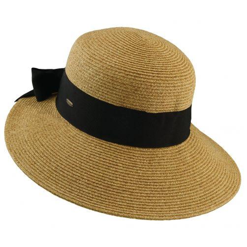 Scala---UV-gevlochten-hoed-voor-dames---Kaki