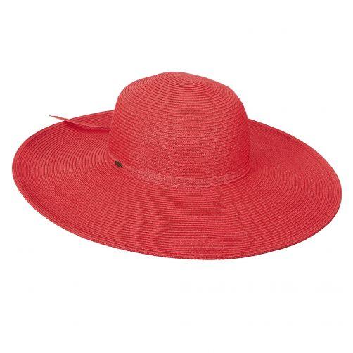 Scala---UV-hoed-met-grote-flap-voor-dames---Rood