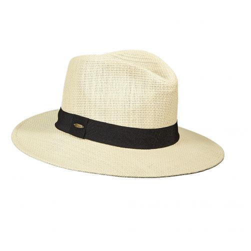 Scala---Papier-gevlochten-hoed-voor-dames---Zwart